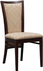 Capital Wooden Side Chair with Upholstered Seat & Back in Dark Walnut